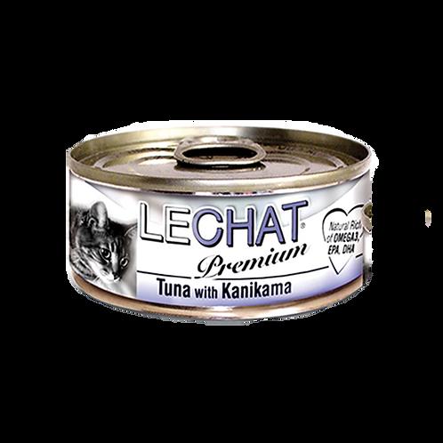 Lechat Premium Tuna With Crabmeat 80g