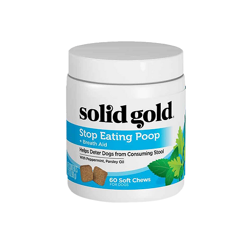 Solid Gold Stop Eating Poop + Breath Aid (60 chews)