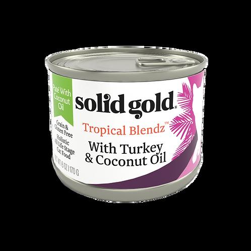 Solid Gold Tropical Blendz GF Turkey Pate 6oz