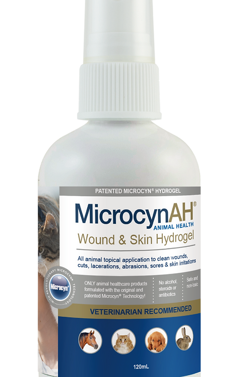 MicrocynAH Wound & Skin Disinfectant Gel 120ml