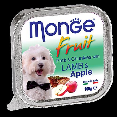 Monge Fruits Pate & Chunkies With Lamb & Apple 100g
