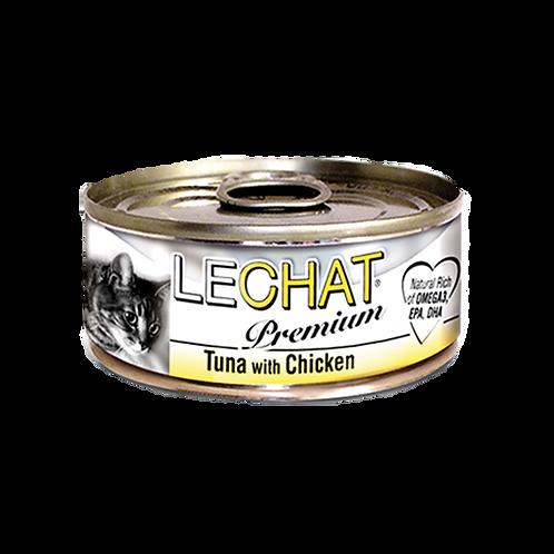 Lechat Premium Tuna With Chicken 80g