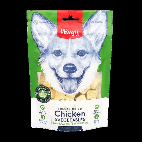 Wanpy Freeze Dried Chicken & Vegetables 40g