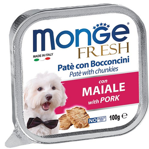 Monge Fresh Pate & Chunkies With Pork 100g