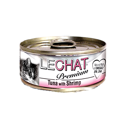 Lechat Premium Tuna With Shrimp 80g