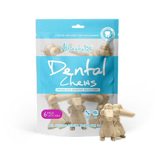 AltimatePet Dental Chews Milk Crocodile 150g (6pcs)