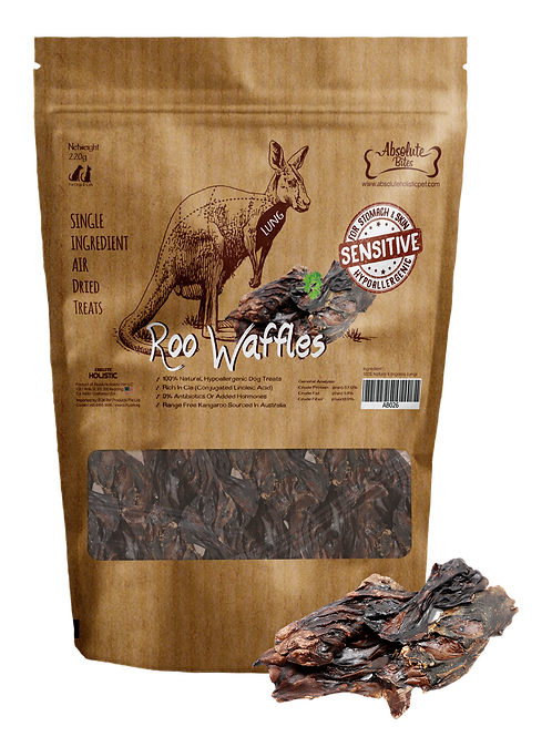 Absolute Bites Air Dried Roo Waffles 80g