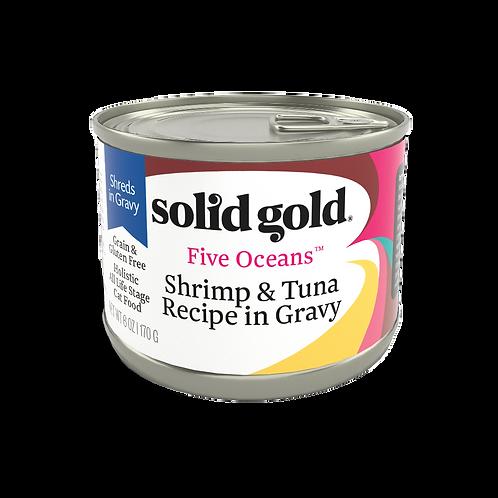 Solid Gold Five Oceans Cat GF Shrimp & Tuna 6oz