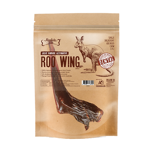 Absolute Bites Air Dried Roo Wings 330g (4pcs)