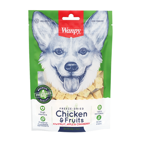 Wanpy Freeze Dried Chicken & Fruits 40g
