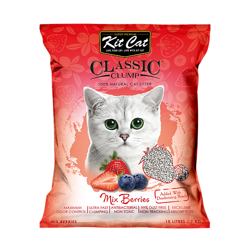 Kitcat Cat Litter 10L/7kg (Mix Berry)