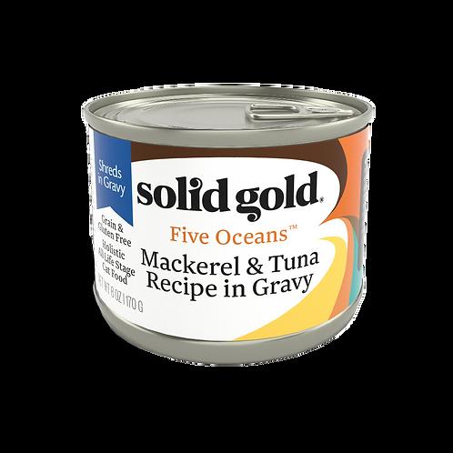 Solid Gold Five Oceans Cat GF Mackerel & Tuna 6oz