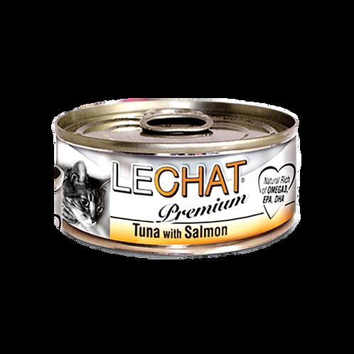 Lechat Premium Tuna With Salmon 80g