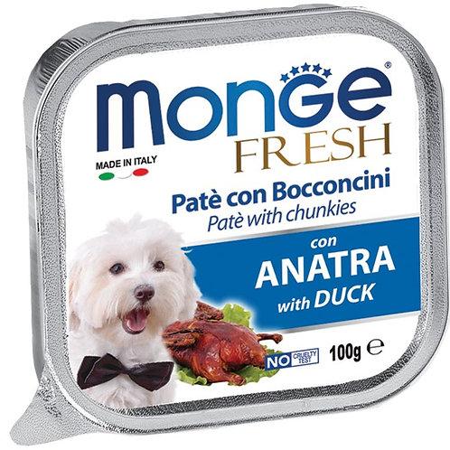 Monge Fresh Pate & Chunkies With Duck 100g
