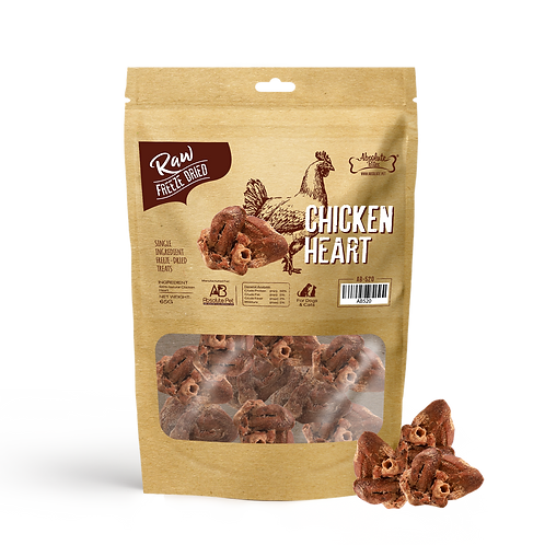 Absolute Bites Freeze Dried Raw Chicken Heart 65g