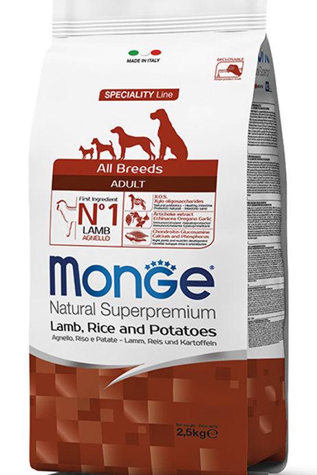 Monge Adult Lamb, Rice & Potatoes Dry Dog Food (2 Sizes)