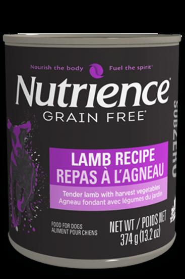 Nutrience GF SubZero Dog Lamb Recipe 374g