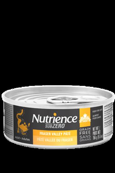 Nutrience GF SubZero Cat Fraser Valley Pate 156g