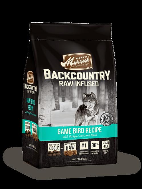Merrick Grain Free Backcountry Game Bird Recipe