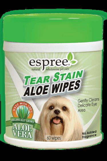 Espree Tear Stain Aloe Wipes (60 wipes)