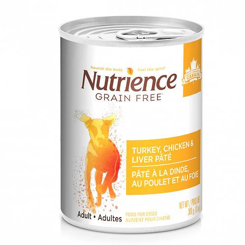 Nutrience GF Dog Turkey, Chicken & Liver Pate 369g