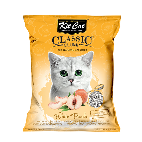 Kitcat Cat Litter 10L/7kg (White Peach)