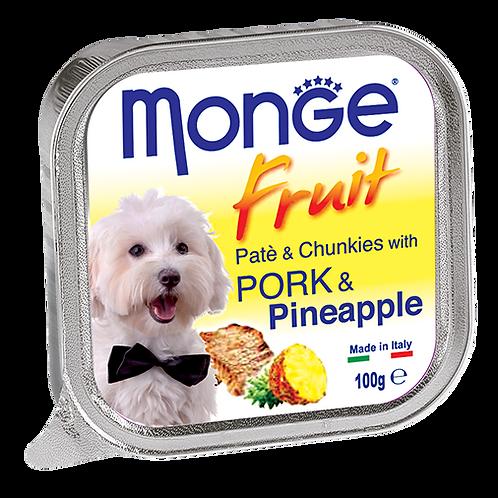 Monge Fruits Pate & Chunkies With Pork & Pineapple 100g