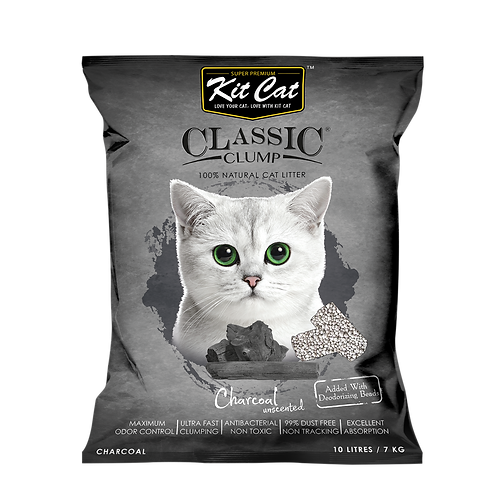 Kitcat Cat Litter 10L/7kg (Charcoal)