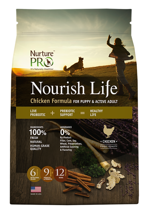 Nourish Life Chicken Formula for Puppy & Active Adult