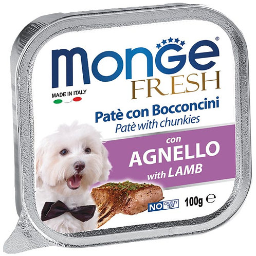 Monge Fresh Pate & Chunkies With Lamb 100g