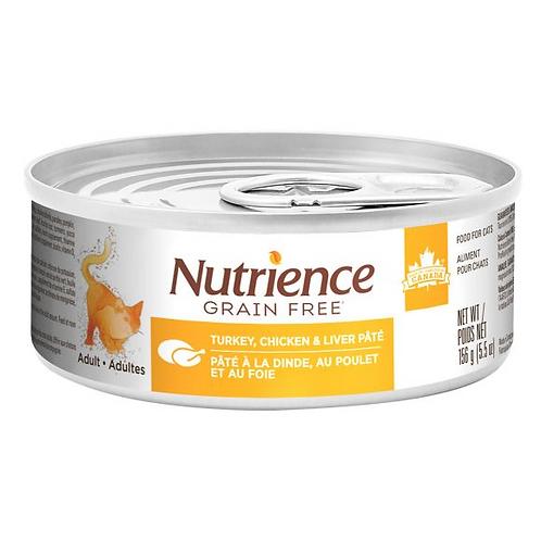 Nutrience GF Cat Turkey, Chicken & Liver Pate 156g