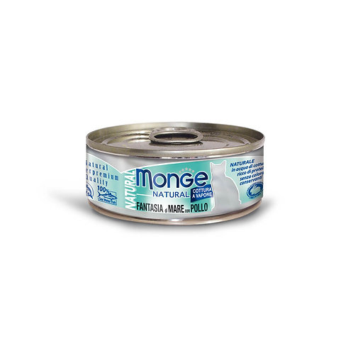 Monge Natural Seafood Mixed With Chicken 80g