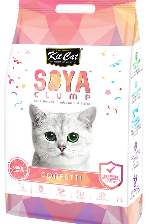 Kit Cat SoyaClump Soybean Litter 7L (Confetti)