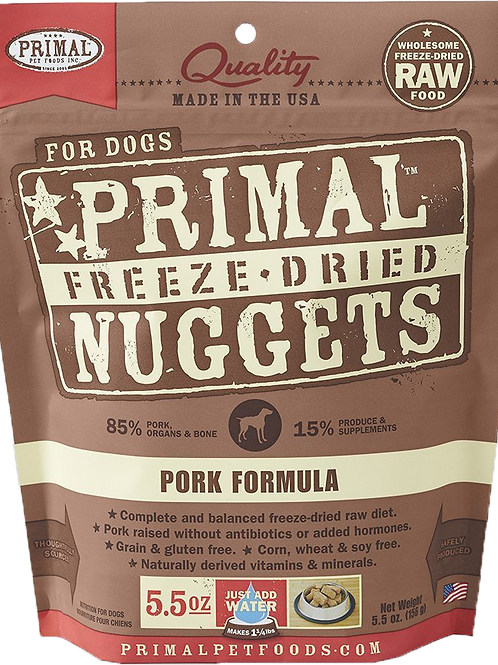 Primal Freeze Dried Canine Pork Formula