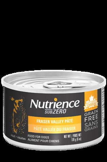 Nutrience GF SubZero Dog Fraser Valley Pate 170g