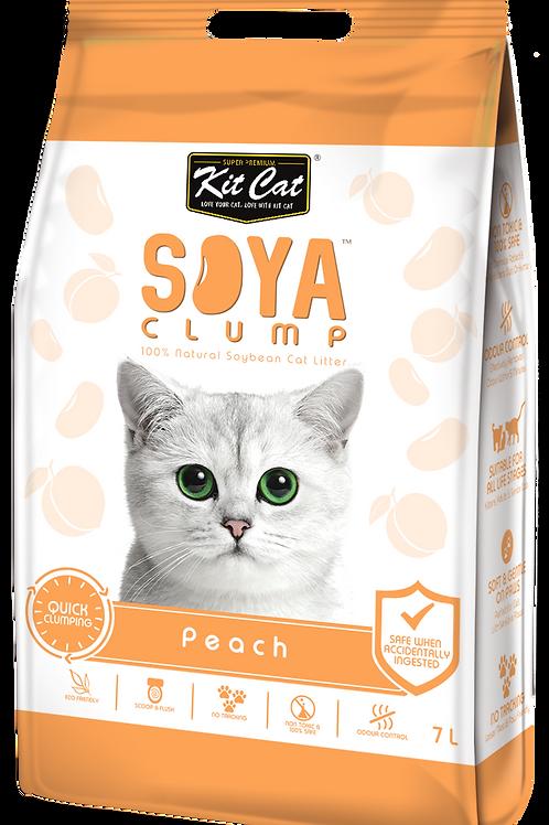 Kit Cat SoyaClump Soybean Litter 7L (Peach)