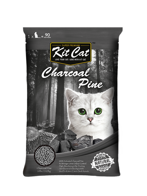 Kit Cat Activated Charcoal Pine 20lbs