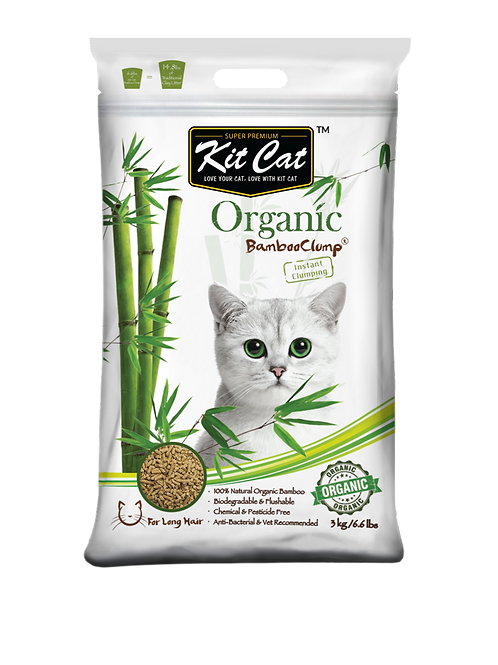 Kit Cat Organic BambooClump (Long Hair)