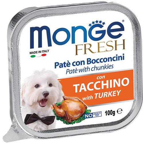Monge Fresh Pate & Chunkies With Turkey 100g