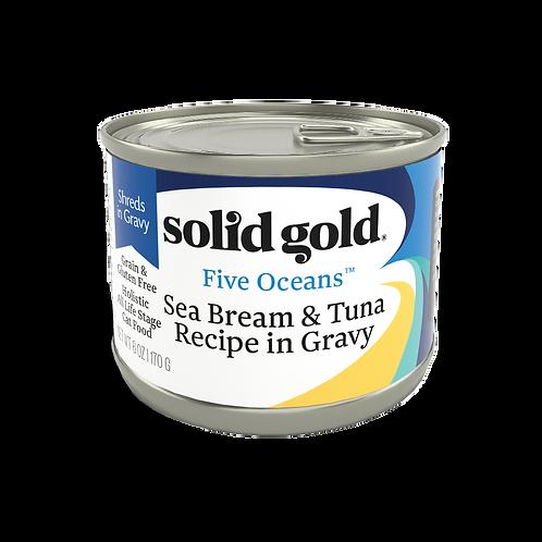 Solid Gold Five Oceans Cat GF Seabream & Tuna 6oz
