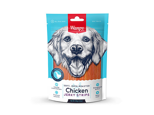 Wanpy Oven-Roasted Chicken Strips 100g