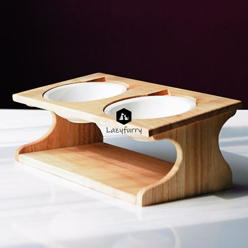 Cat Elevated Bowl | Tilted Top