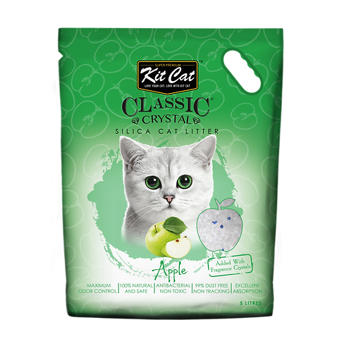 Kitcat Crystal Cat Litter 5L (Apple)