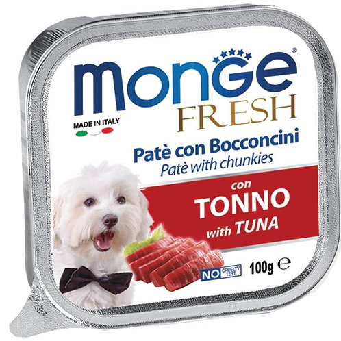 Monge Fresh Pate & Chunkies With Tuna 100g