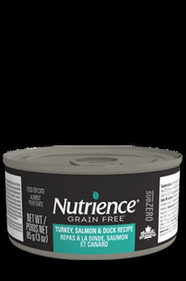 Nutrience GF SubZero Cat Turkey, Salmon & Duck 85g