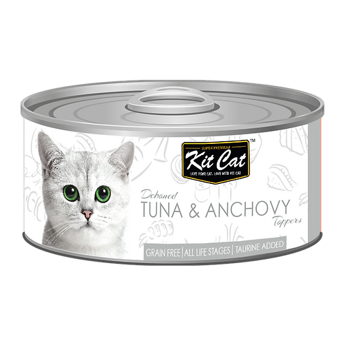 Kit Cat Deboned Tuna & Anchovy Toppers 80g