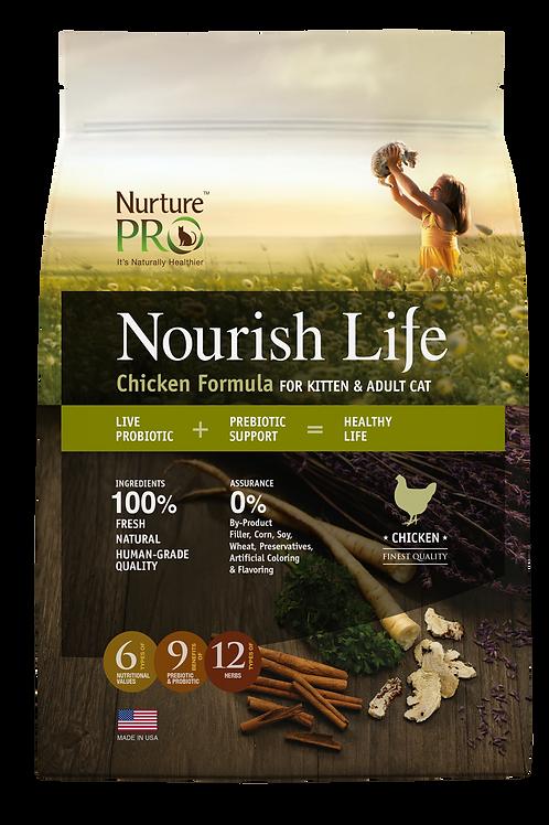 Nurture Pro Nourish Life Chicken Formula for Kitten & Adult Cat 4lbs
