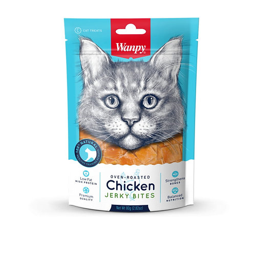 Wanpy Cat Oven-Roasted Chicken Bites 80g