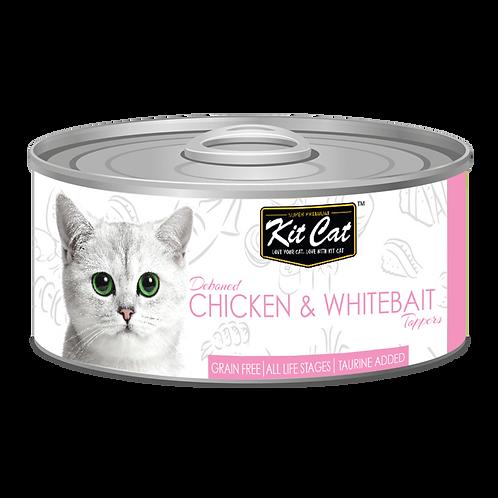 Kit Cat Deboned Chicken & Whitebait Toppers 80g