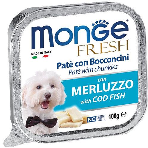 Monge Fresh Pate & Chunkies With Cod Fish 100g